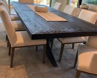 8'Long Beautiful Table $2500 - Restoration Hardware, West Elm, William Sonoma - I have not identified the designer yet 9' x 42""
