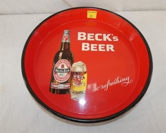 13IN BECKS BEER TRAY