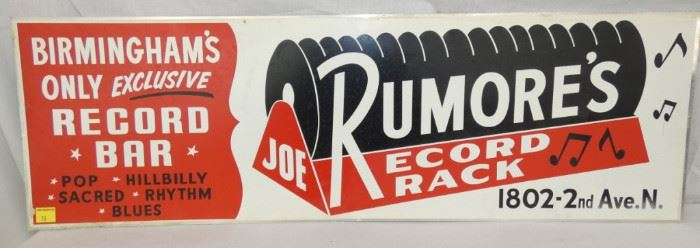 44X14 RUMORES RECORD RACK SIGN
