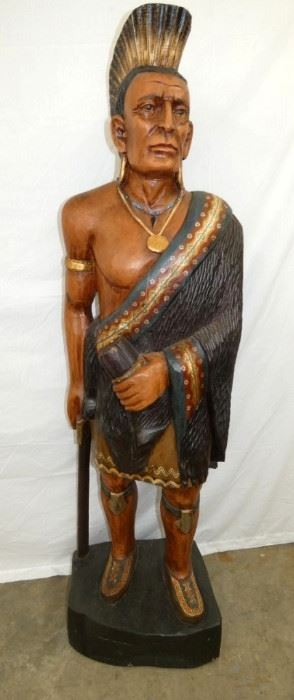 6FT. WOODEN CARVED INDIAN STATUE