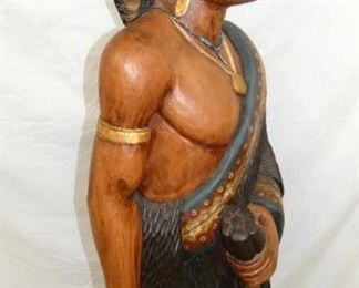 VIEW 3 SIDE VIEW 6FT. CARVED INDIAN