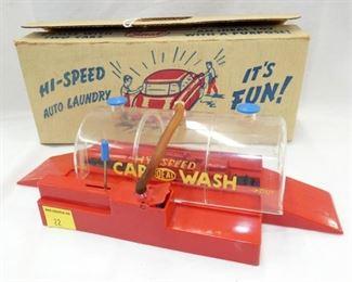 IDEAL HI SPEED TOY CAR WASH