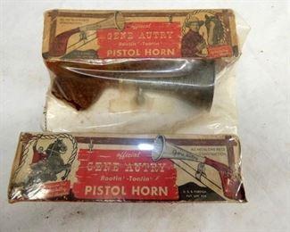 VIEW 2 GENE AUTRY PISTOL HORN/ 2 BOXES