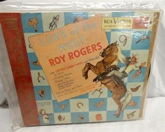 ROY ROGERS RECORD LORE OF THE WEST