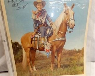 AUTOGRAPHED ROY ROGERS PICTURE