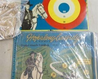 HOPALONG TIN LITHO TARGET GAME IN BOX