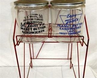 4 JAR TOMS RACK W/ JARS