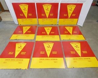(10) NOS CHAMPION CHEMICALS SIGNS