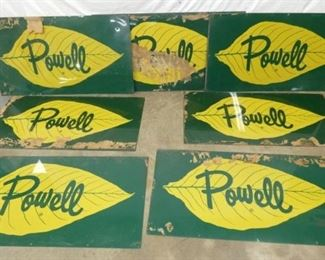 (10) NOS 48X26 POWELL TOBACCO BARN SIGN