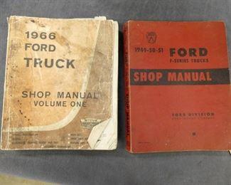 1949-50-51 FORD, 1966 TRUCK MANUELS