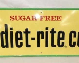 11X32 DIET RITE COLA SIGN W/ BOTTLE