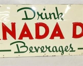 36X12 CANADA DRY DRINK SIGN