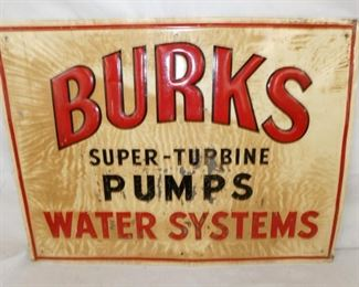 23X17 BURKS PUMPS SYSTEMS SIGN