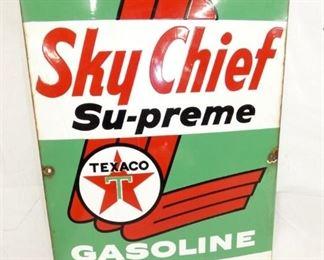 12X18 PORC. TEXACO SKY CHIEF PUMP PLATE