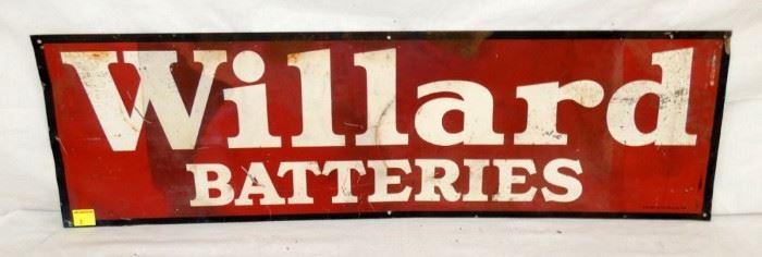 40X11 WILLARD BATTERIES SIGN