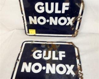 GULF NO NOX PUMP PLATES PORC.