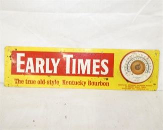 15X4 EARLY TIMES BOURBON SIGN