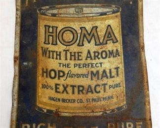 10X14 HOMA EXTRACT SIGN
