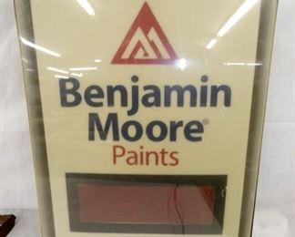 14X17 BENJAMIN MOORE PAINTS SIGN