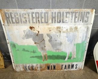 48X40 REG. HOLSTEINS SIGN W/ COW
