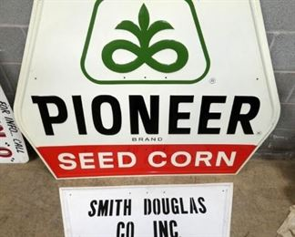 2PC. PIONEER SEED CORN GIFTON NC SIGNS