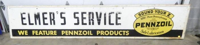 120X24 PENNZOIL ELMER SERVICE SIGN