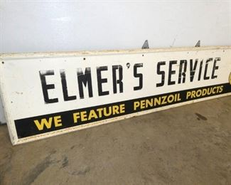 VIEW 3 LEFTSIDE PENNZOIL SERVICE SIGN
