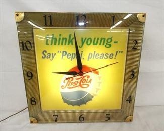 16IN PEPSI COLA CLOCK