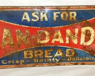 9X20 EMB. PAN DANDY BREAD SIGN