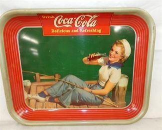 1930'S COKE TRAY W/ SAILOR GIRL