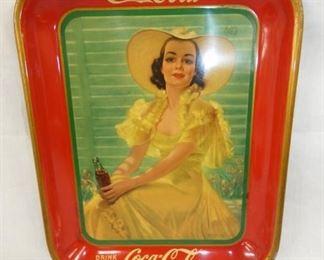 1930'S COKE TRAY W/ VICT. LADY