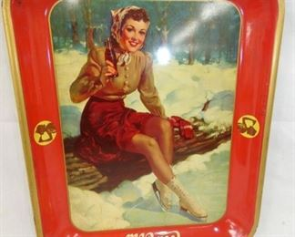 1930'S COKE TRAY W/ SNOW