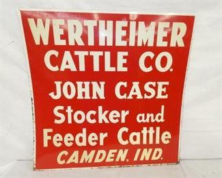 28X29 WERTHEIMER CATTLE FEEDER SIGN