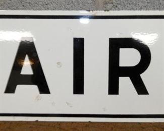8X10 PORC. AIR STATION SIGN