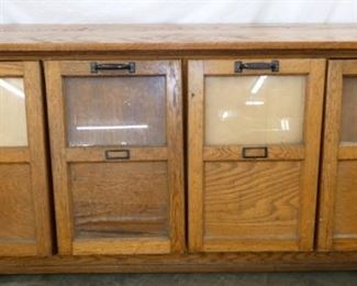 75X37 OAK 4 COMPARTMENT SEED CABINET