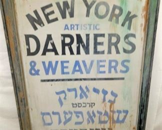 29X64 WOODEN DARNERS SIGN