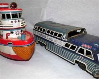 VIEW 2 GREYHOUND BUS/ROVER SHIP