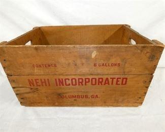 23X12 NEHI WOODEN BOX