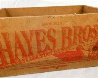 15X8 WOODEN HAYES BROS. BOX