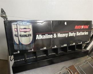 ALKALINE BATTERIES DISPLAY