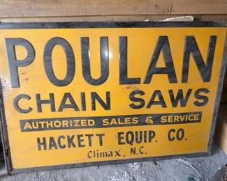 4FTX6FT EMB. POULAN CHAINSAW SIGN