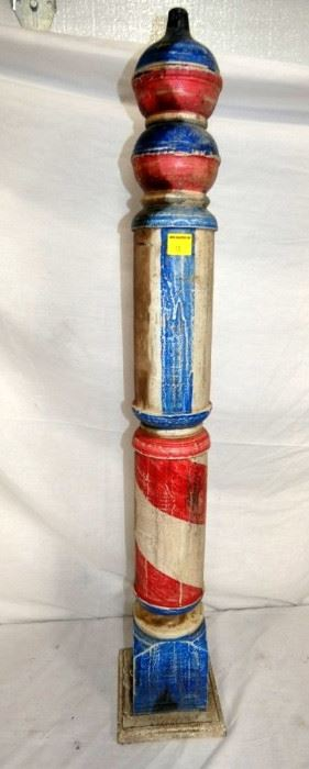 42IN. WOODEN BARBER POLE