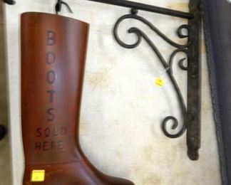 19 1/2IN. BOOTS TRADE SIGN