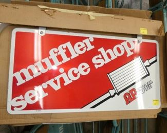 NOS MUFFLER SERVICE SWINGER SIGN