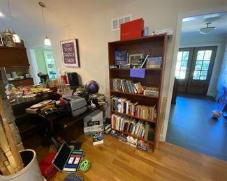 Books, cameras, oil lamps