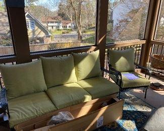 Aluminum patio set with cushions