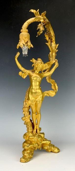 Charles Ferville-Suan (1847-1925) Art Nouveau Lamp - Lot 123a