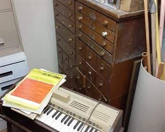 Antique oak organizer cabinet $650