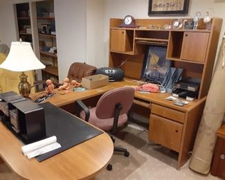 Free office workstation and shelving file cabinets $20