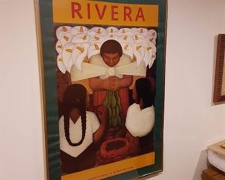 Diego Rivera framed poster